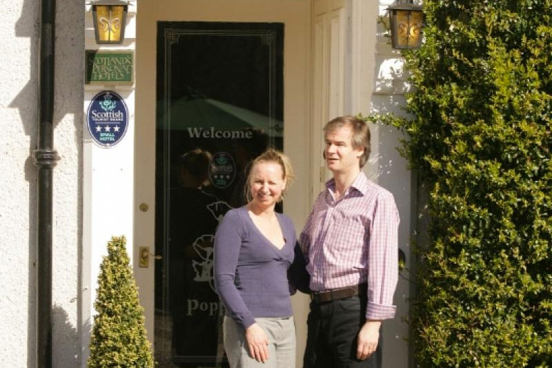 John & Susan Martin owners Poppies Hotel