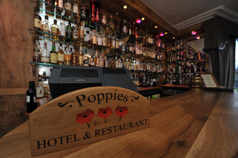 Poppies Bar drinks selection