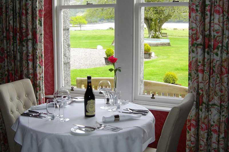 The Restaurant Kilcamb overlooking the gardens